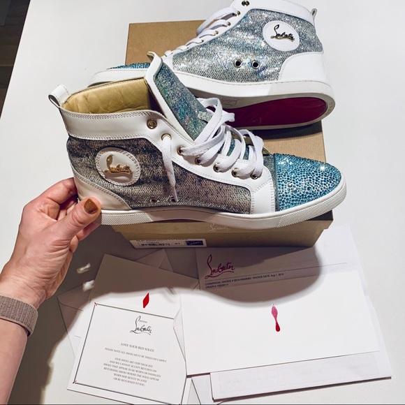e301e991e75 Christian Louboutin Shoes - 💎Stunning Louboutin Bip Bip Blue Strass  Sneakers